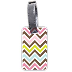 Chevrons Stripes Colors Background Luggage Tags (one Side)  by Amaryn4rt