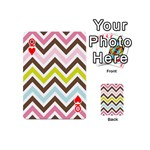 Chevrons Stripes Colors Background Playing Cards 54 (Mini)  Front - HeartQ