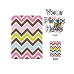 Chevrons Stripes Colors Background Playing Cards 54 (Mini)  Back