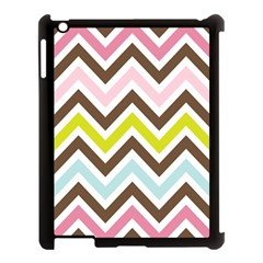 Chevrons Stripes Colors Background Apple Ipad 3/4 Case (black) by Amaryn4rt