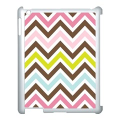 Chevrons Stripes Colors Background Apple Ipad 3/4 Case (white) by Amaryn4rt