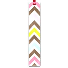 Chevrons Stripes Colors Background Large Book Marks by Amaryn4rt