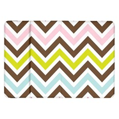 Chevrons Stripes Colors Background Samsung Galaxy Tab 8 9  P7300 Flip Case by Amaryn4rt