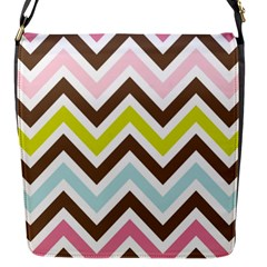 Chevrons Stripes Colors Background Flap Messenger Bag (s)