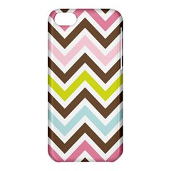 Chevrons Stripes Colors Background Apple Iphone 5c Hardshell Case by Amaryn4rt
