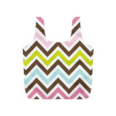 Chevrons Stripes Colors Background Full Print Recycle Bags (s)  by Amaryn4rt