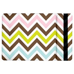 Chevrons Stripes Colors Background Ipad Air 2 Flip by Amaryn4rt
