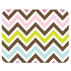 Chevrons Stripes Colors Background Double Sided Flano Blanket (medium)  by Amaryn4rt