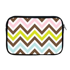 Chevrons Stripes Colors Background Apple Macbook Pro 17  Zipper Case by Amaryn4rt