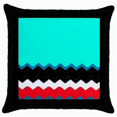 Pattern Digital Painting Lines Art Throw Pillow Case (black) by Amaryn4rt