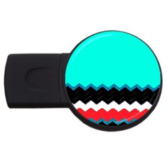 Pattern Digital Painting Lines Art Usb Flash Drive Round (4 Gb) by Amaryn4rt