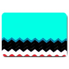 Pattern Digital Painting Lines Art Large Doormat  by Amaryn4rt