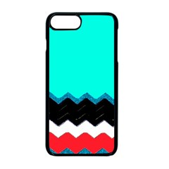 Pattern Digital Painting Lines Art Apple Iphone 7 Plus Seamless Case (black)