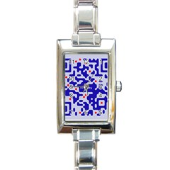 Digital Computer Graphic Qr Code Is Encrypted With The Inscription Rectangle Italian Charm Watch by Amaryn4rt