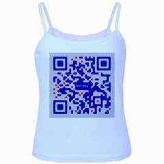 Digital Computer Graphic Qr Code Is Encrypted With The Inscription Baby Blue Spaghetti Tank by Amaryn4rt