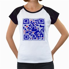 Digital Computer Graphic Qr Code Is Encrypted With The Inscription Women s Cap Sleeve T by Amaryn4rt