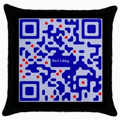 Digital Computer Graphic Qr Code Is Encrypted With The Inscription Throw Pillow Case (black) by Amaryn4rt