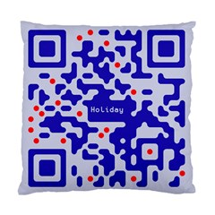 Digital Computer Graphic Qr Code Is Encrypted With The Inscription Standard Cushion Case (one Side) by Amaryn4rt