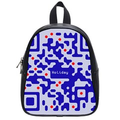 Digital Computer Graphic Qr Code Is Encrypted With The Inscription School Bags (small)