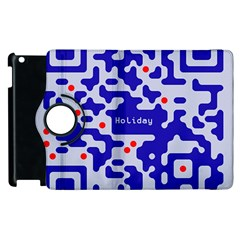 Digital Computer Graphic Qr Code Is Encrypted With The Inscription Apple Ipad 2 Flip 360 Case by Amaryn4rt