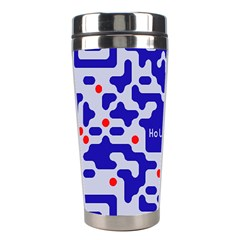 Digital Computer Graphic Qr Code Is Encrypted With The Inscription Stainless Steel Travel Tumblers by Amaryn4rt
