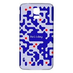Digital Computer Graphic Qr Code Is Encrypted With The Inscription Samsung Galaxy S5 Back Case (white) by Amaryn4rt