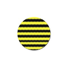 Yellow Black Chevron Wave Golf Ball Marker (4 Pack) by Amaryn4rt
