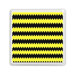 Yellow Black Chevron Wave Memory Card Reader (square)  by Amaryn4rt
