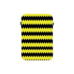 Yellow Black Chevron Wave Apple Ipad Mini Protective Soft Cases by Amaryn4rt