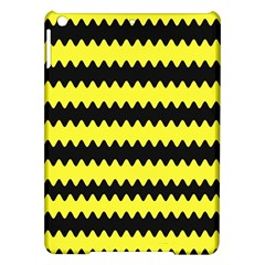 Yellow Black Chevron Wave Ipad Air Hardshell Cases by Amaryn4rt