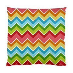 Colorful Background Of Chevrons Zigzag Pattern Standard Cushion Case (two Sides) by Amaryn4rt