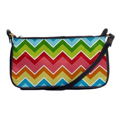 Colorful Background Of Chevrons Zigzag Pattern Shoulder Clutch Bags by Amaryn4rt