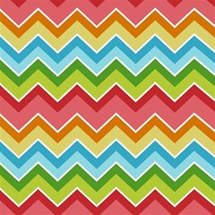 Colorful Background Of Chevrons Zigzag Pattern Magic Photo Cubes by Amaryn4rt