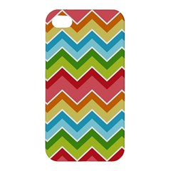Colorful Background Of Chevrons Zigzag Pattern Apple Iphone 4/4s Premium Hardshell Case by Amaryn4rt