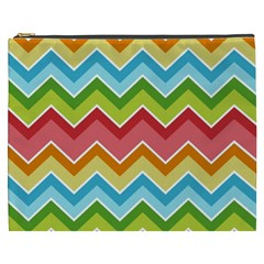 Colorful Background Of Chevrons Zigzag Pattern Cosmetic Bag (xxxl)  by Amaryn4rt
