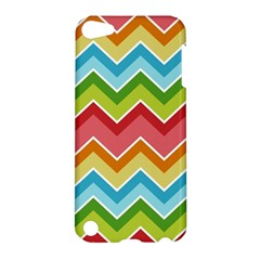Colorful Background Of Chevrons Zigzag Pattern Apple Ipod Touch 5 Hardshell Case by Amaryn4rt