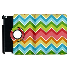 Colorful Background Of Chevrons Zigzag Pattern Apple Ipad 2 Flip 360 Case