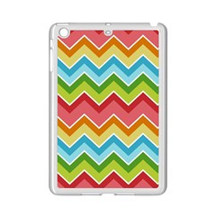 Colorful Background Of Chevrons Zigzag Pattern Ipad Mini 2 Enamel Coated Cases by Amaryn4rt