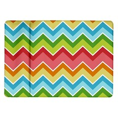 Colorful Background Of Chevrons Zigzag Pattern Samsung Galaxy Tab 10 1  P7500 Flip Case by Amaryn4rt