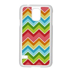 Colorful Background Of Chevrons Zigzag Pattern Samsung Galaxy S5 Case (white) by Amaryn4rt