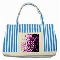 Bokeh Background In Purple Color Striped Blue Tote Bag by Amaryn4rt