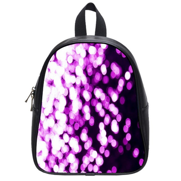 Bokeh Background In Purple Color School Bags (Small)