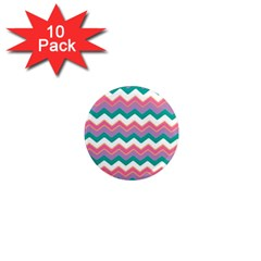 Chevron Pattern Colorful Art 1  Mini Magnet (10 Pack)  by Amaryn4rt