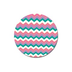 Chevron Pattern Colorful Art Magnet 3  (round) by Amaryn4rt
