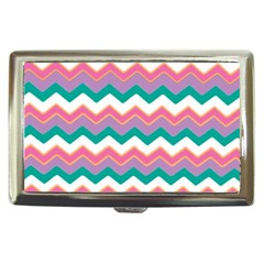 Chevron Pattern Colorful Art Cigarette Money Cases by Amaryn4rt