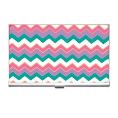 Chevron Pattern Colorful Art Business Card Holders by Amaryn4rt