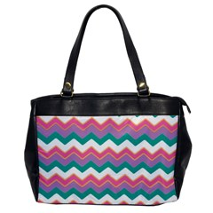 Chevron Pattern Colorful Art Office Handbags by Amaryn4rt