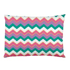 Chevron Pattern Colorful Art Pillow Case (two Sides) by Amaryn4rt
