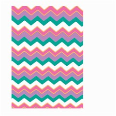 Chevron Pattern Colorful Art Large Garden Flag (two Sides) by Amaryn4rt