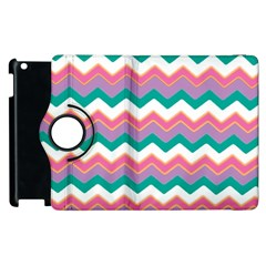 Chevron Pattern Colorful Art Apple Ipad 3/4 Flip 360 Case by Amaryn4rt